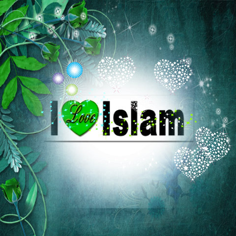 Islam achtergrond probably with a sign titled i love islam