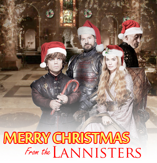 Merry christmas from the lannisters game of thrones fan for Christmas gifts for game of thrones fans