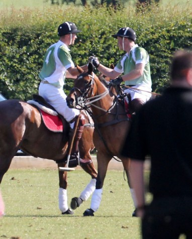 in the Dalwhinnie Crook Invitational charity polo match at Longdole Polo Club in Gloucestershire