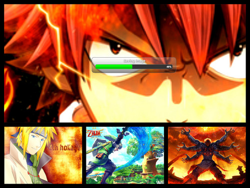 naruto, fairy tail , legend of zelda and asura's wrauth