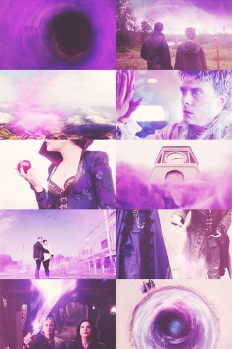 once upon a time + purple/violet