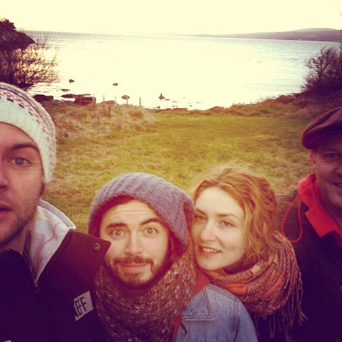 Keith Harkin achtergrond possibly with a bonnet entitled out fer a wee walk on inch island #donegal