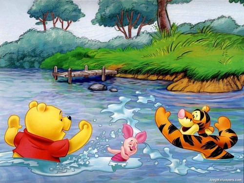 Winnie l'ourson fond d'écran entitled pooh and frends