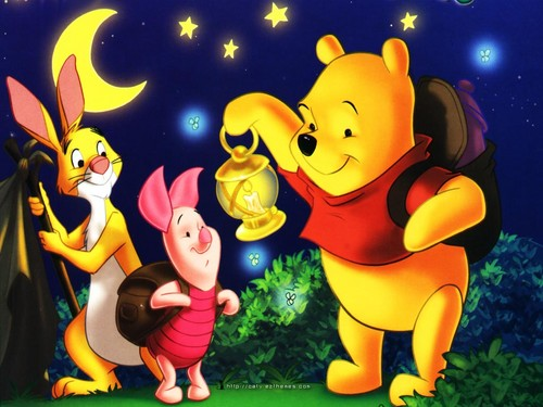 O Ursinho Puff wallpaper containing animê entitled pooh and frends