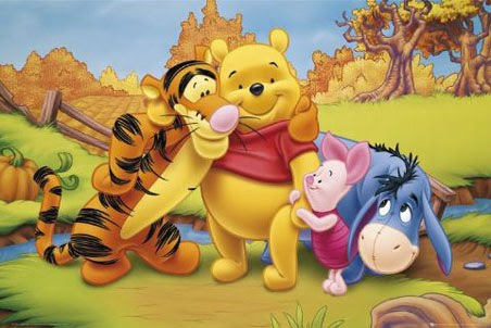 Winnie-the-Pooh karatasi la kupamba ukuta with anime titled pooh and frends