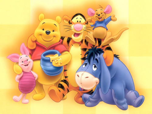 Pu der Bär Hintergrund titled pooh and frends