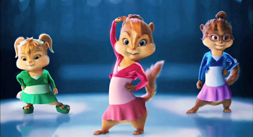 The Chipettes and The Chipmunks wallpaper titled singe ladies