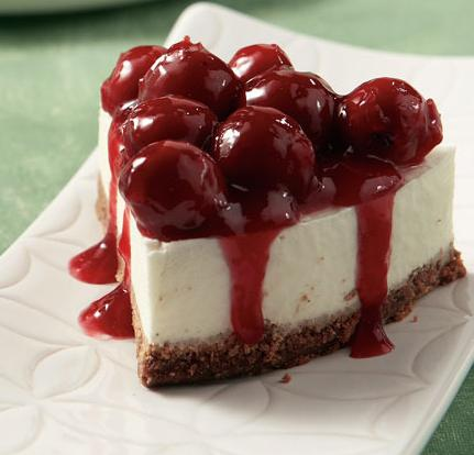 酸, 酸奶 cherries cheesecake