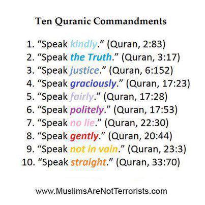 ইসলাম দেওয়ালপত্র entitled ten quranic commandments