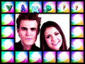 vampire diaries - paul-wesley-and-nina-dobrev fan art