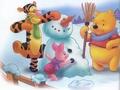 winnie the pooh winter - winnie-the-pooh wallpaper