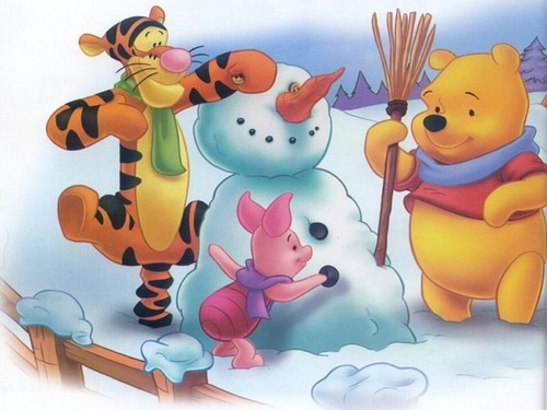 winnie the pooh wallpaper called winnie the pooh winter
