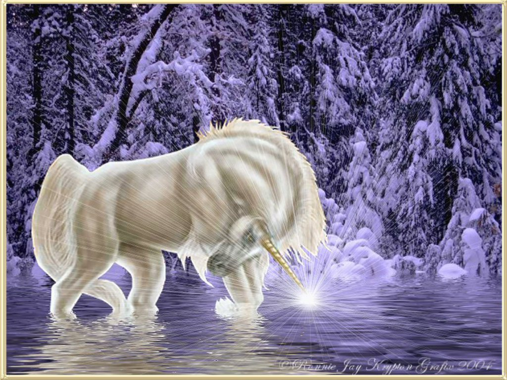 Fantasy Images Winter Unicorn Fantasy Hd Wallpaper And Background