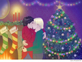 x-mas lights - harry-and-draco fan art