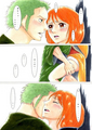 zoro nami one piece - nami-and-zoro fan art