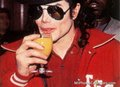 ♥ Cutie Michael drinking Orange Juice ♥ - michael-jackson photo