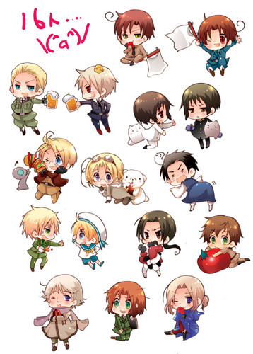 Hetalia پیپر وال called ~Hetalia Chibi~