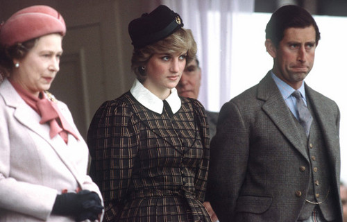 Queen Elizabeth II  and princess diana