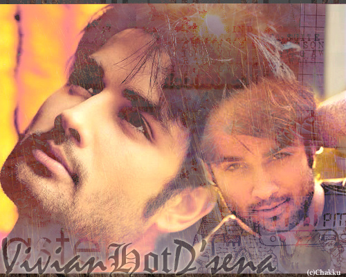 Vivian Dsena karatasi la kupamba ukuta possibly with a sign and a portrait titled ღ Vivian Dsena