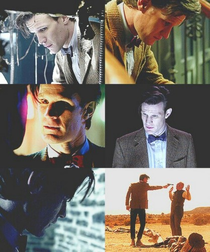 The Eleventh Doctor karatasi la kupamba ukuta probably with a business suit, a sign, and an outerwear called 11th Doctor