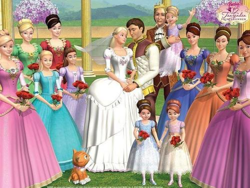 Princess Courtney wallpaper possibly with a polonaise, a bridesmaid, and a kirtle called 12 dancing princesses