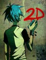 2-D grafity - gorillaz fan art