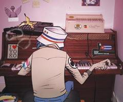 2-D play piano