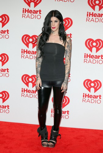 Kat Von D wallpaper containing a legging, a hip boot, and bare legs called 2012 iHeartRadio Musica Festival