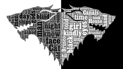 A Song of Ice and Fire wallpaper called ASOIAF Word Cloud - Arya Stark