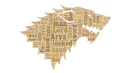 ASOIAF Word облако - Arya Stark