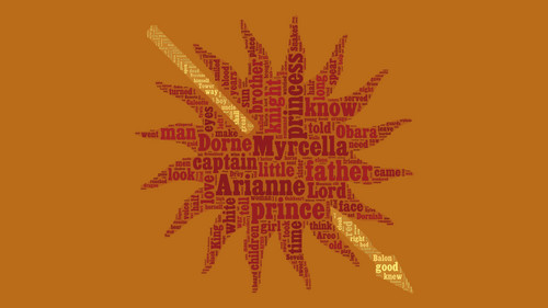 ASOIAF Word Cloud - Dorne