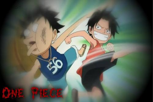 Ace kick Luffy