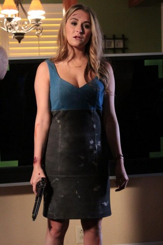 Alexa Vega on set