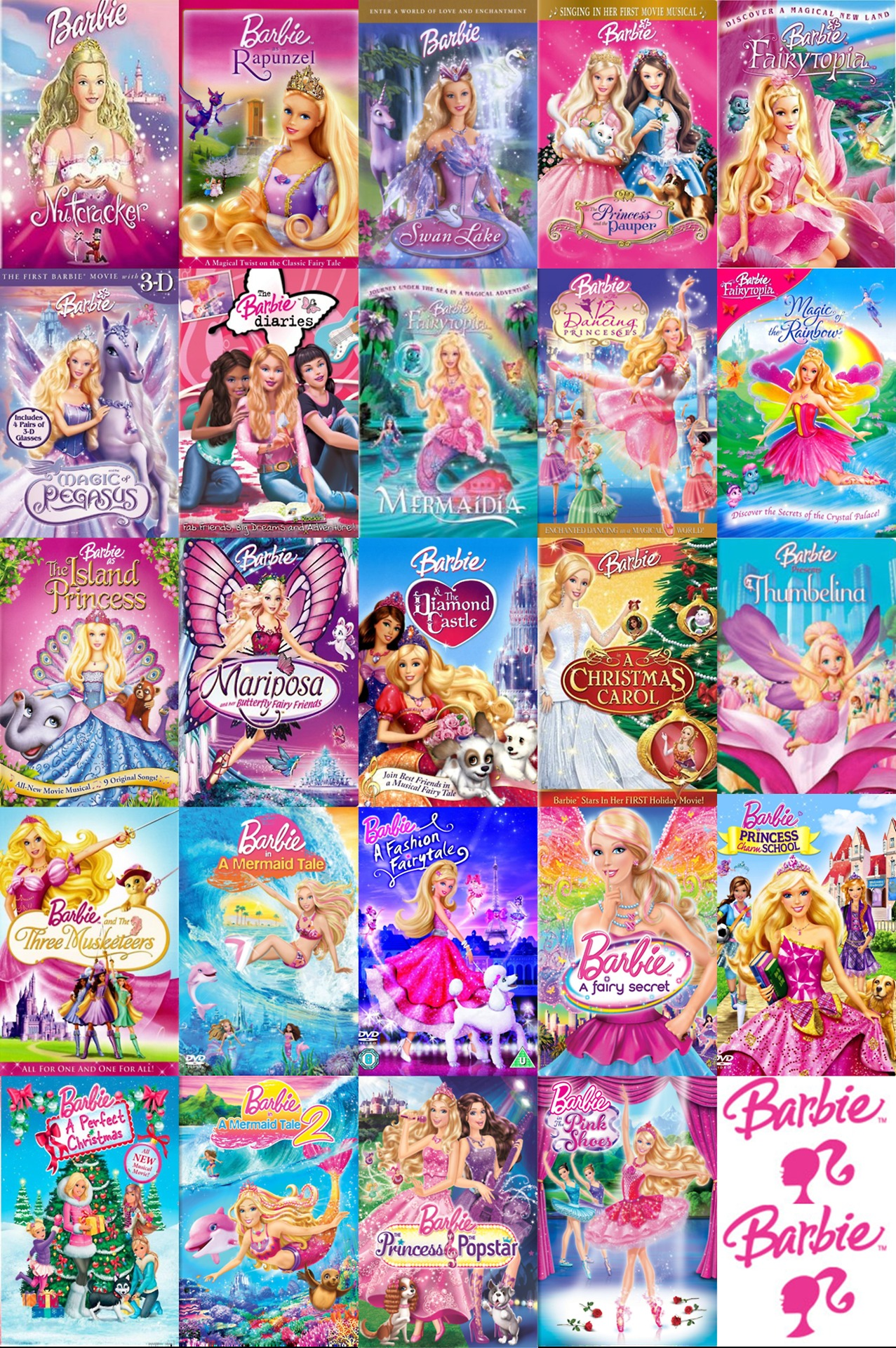 Barbie movies all barbie movies 2001 2013