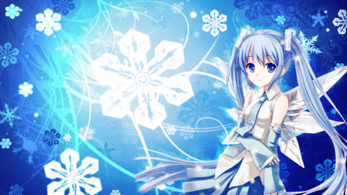anime girl winter
