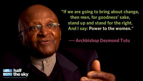 Feminism wallpaper with a business suit entitled Archbishop Desmond Tutu