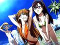 Asuka , Rei , & , Mari - anime fan art