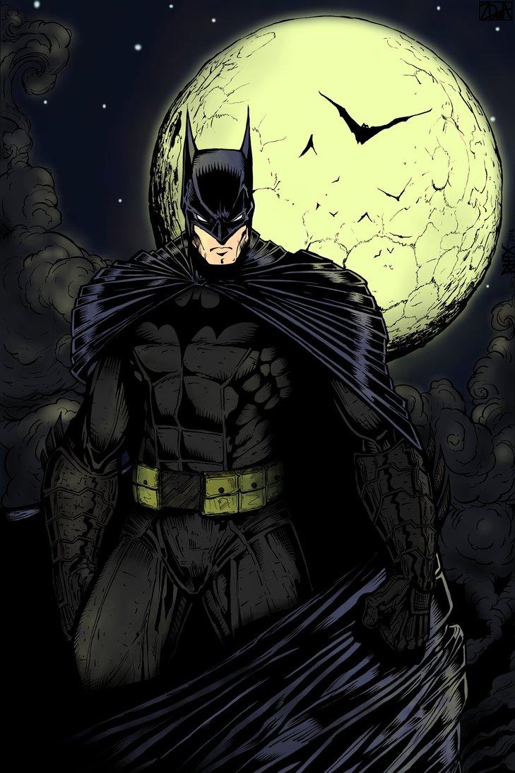 コミックよりバットマンと月の壁紙