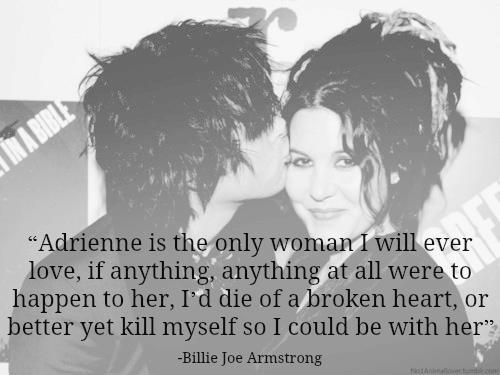 Billie Joe Armstrong w/ Adrienne Armstrong