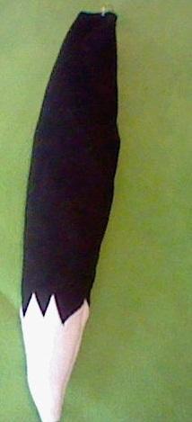 Black лиса, фокс Tail White Tip