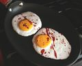 Blood Spatter Egg Cookies - dexter photo