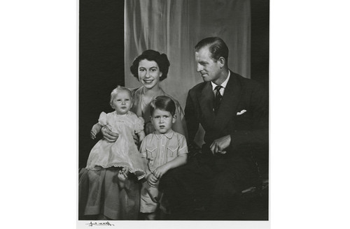 British Royal Family Princess Elizabeth, Prince Philip, Prince Charles and Princess Anne
