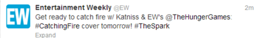 Catching 불, 화재 & Katniss on the cover of EW tomorrow!