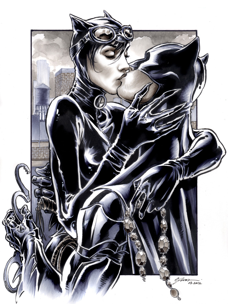 Catwoman and Batman - Batman Fan Art (33211358) - Fanpop