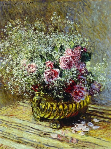 Claude Monet - flores in a Pot, 1878
