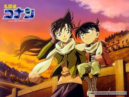 Shinichi Kudo and Ran Mouri वॉलपेपर containing ऐनीमे called DC