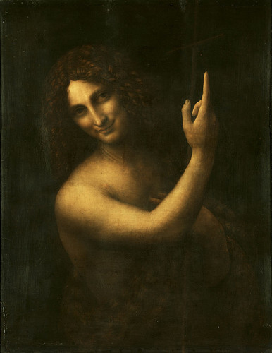 Da Vinci's John the Baptist. Salai is thought to have been the model (c. 1514)