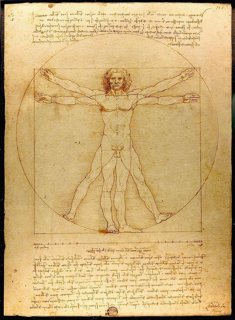 Da Vinci's The Vitruvian Man (c. 1485)