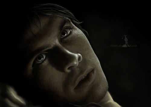 The Vampire Diaries wallpaper possibly with a portrait called Damon Salvatore