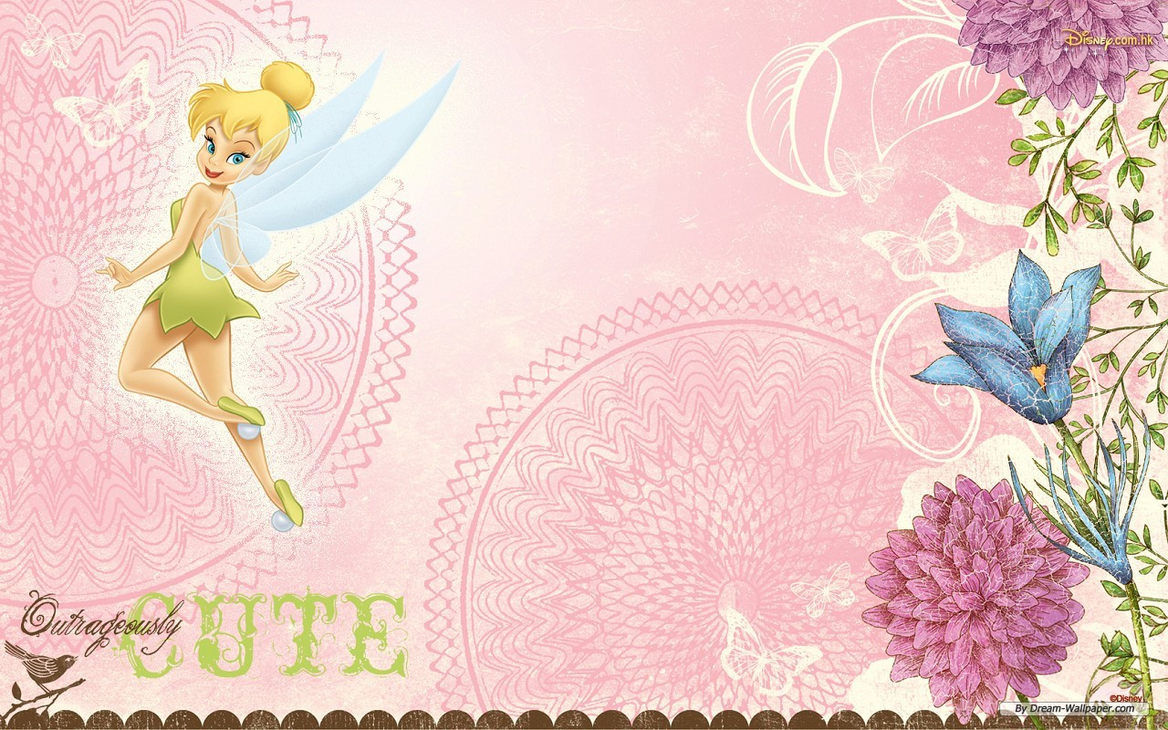 Disney fairies sites of great wallpapers wallpaper for Pink princess wallpaper
